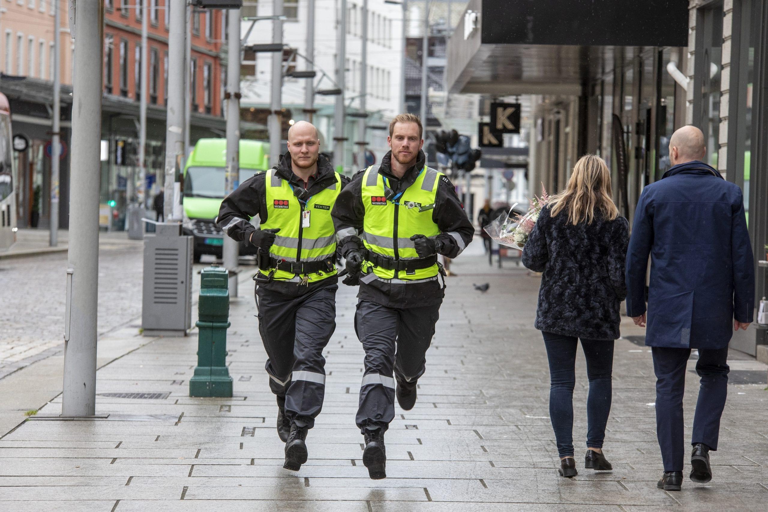 Praksis med Securitas på politi og vekter-linja ved Stord folkehøgskule.