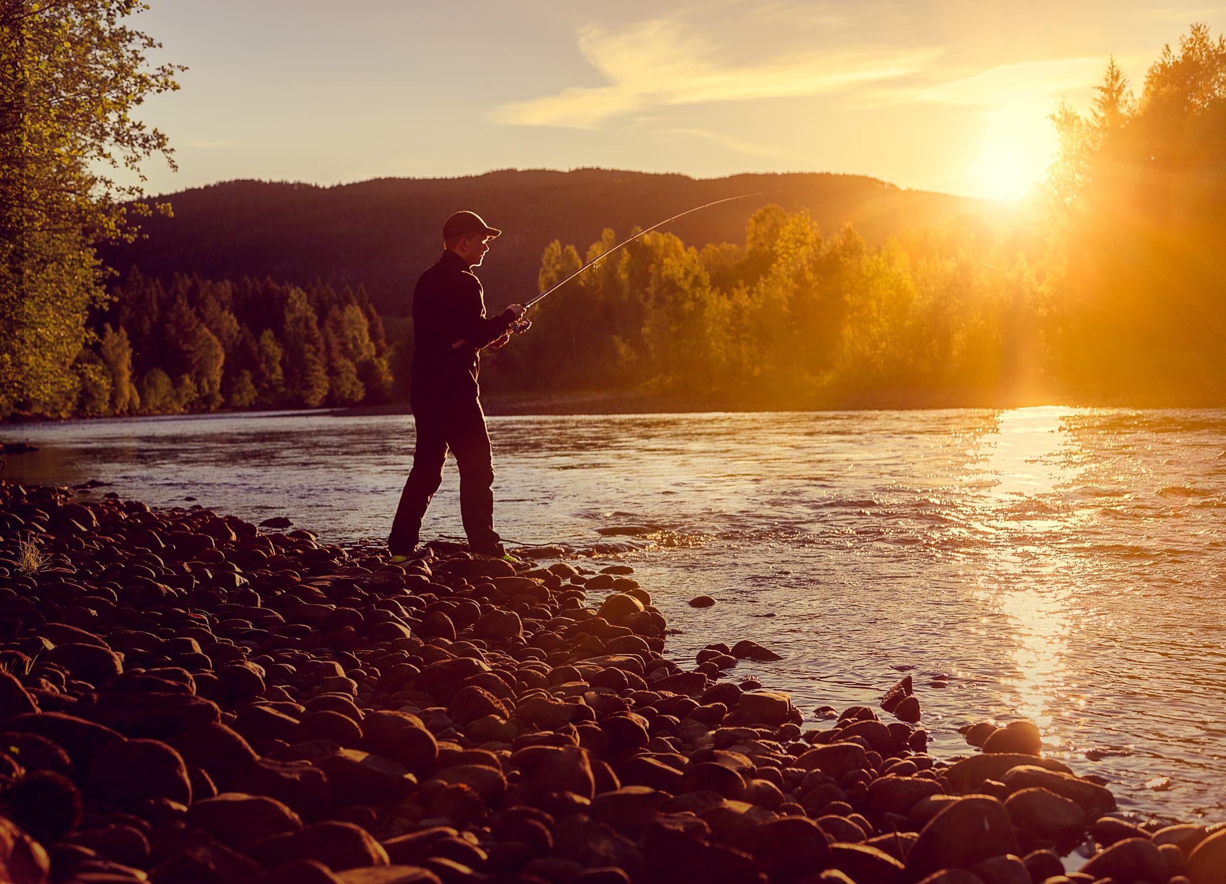 Fisking i elva Stord folkehøgskule