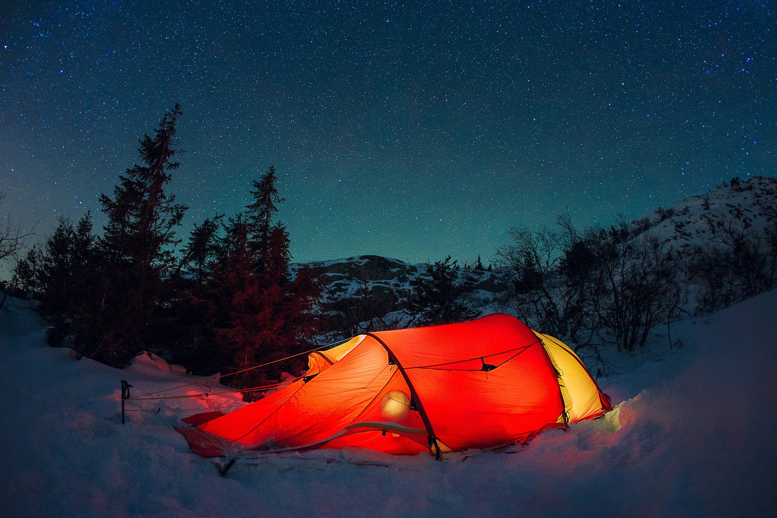 Camping på vinterstid Stord folkehøgskule